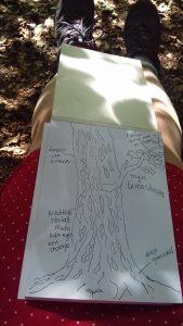 Droomdate met een boom